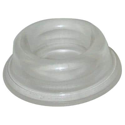1-3/4 in. Clear Wall-Mounted Doorstop