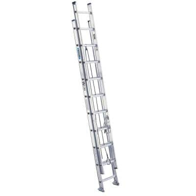 20 ft. Aluminum Extension Ladder with 300 lbs. Load Capacity Type IA Duty Rating