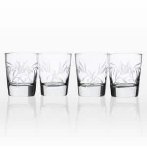 Olive Branch Clear 13 oz. Double Old Fashioned Glass (Set of 4)