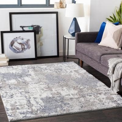 Ariana Blue 7 ft. 10 in. x 10 ft. 3 in. Abstract Area Rug