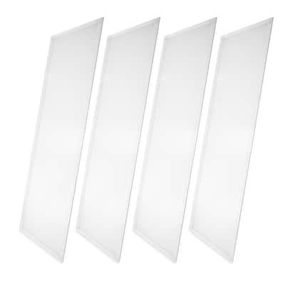 2 ft. x 4 ft. White Integrated LED Dimmable Edge Lit Panel, 4000K (4-Pack)