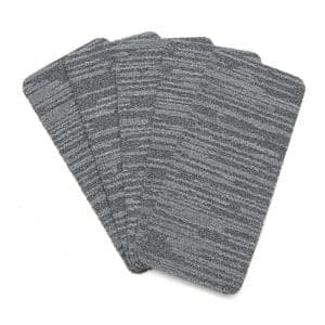 Peel and Stick Greyscale Indoor/Outdoor 8 in. x 18 in. Commercial Stair Tread (Set of 13)