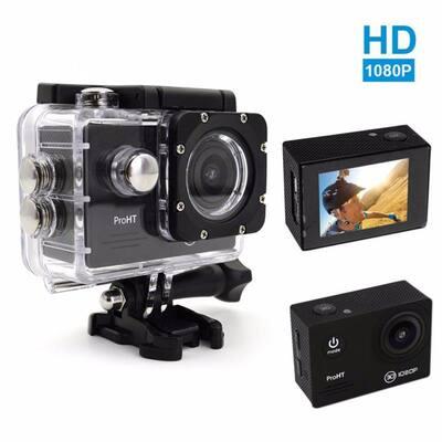 1080p HD Waterproof Action Camera in Black