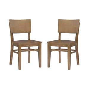 Adams Natural Wood Back and Seat Dining Chair (Set of 2)