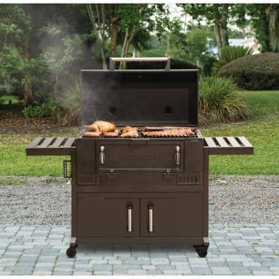 36 in. Charcoal Grill in Black