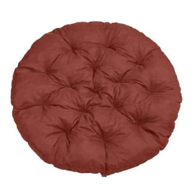 Montlake 52 in. Dia Heather Henna Water-Resistant Outdoor Lounge Papasan Cushion