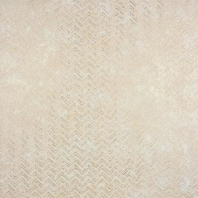 Fisher, Luna Copper Distressed Chevron Paper Strippable Wallpaper Roll (Covers 75.6 sq. ft.)