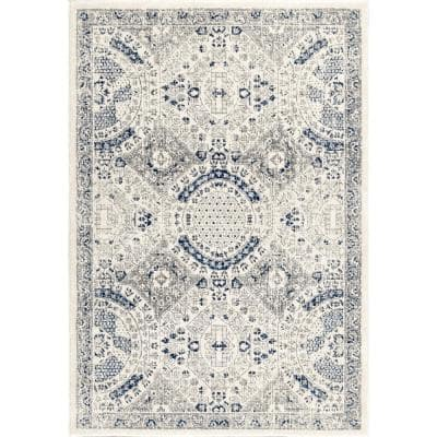 Minta Modern Persian Blue 10 ft. x 14 ft. Area Rug