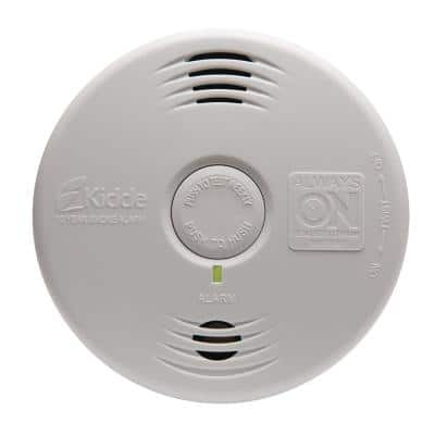 10 Year Worry-Free Sealed Battery Smoke Detector with Photoelectric Sensor and Voice Alarm