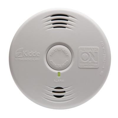 10 Year Worry-Free Battery Smoke Detector with voice+10 Year Worry-Free Carbon Monoxide Alarm