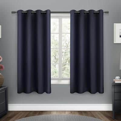 Peacoat Blue Thermal Grommet Blackout Curtain - 52 in. W x 63 in. L (Set of 2)