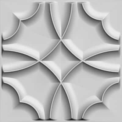 Falkirk Fifer 20 in. x 20 in. Paintable Off White Quatrefoil Clover Fiber Decorative Wall Paneling (10-Pack)