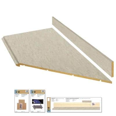 8 ft. Beige Laminate Countertop Kit With Right Miter and Full Wrap Ogee Edge in Sierra Cascade Limestone