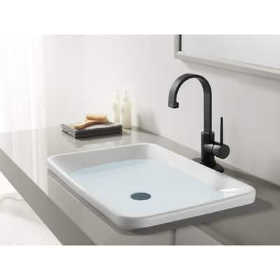 New York Single Hole Single-Handle Bathroom Faucet in Matte Black