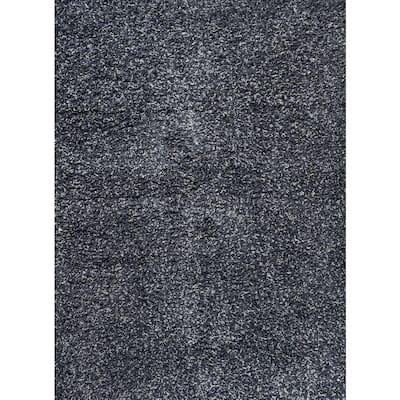 Mercer Shag Plush Denim Blue 5 ft. x 8 ft. Area Rug