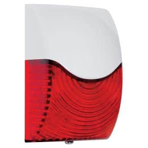 Rectangular Red Select-Alert Siren and LED Strobe Wired Alarm Kit with Mini Controllers