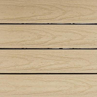 UltraShield Naturale 1 ft. x 1 ft. Quick Deck Outdoor Composite Deck Tile Sample in Japanese Cedar