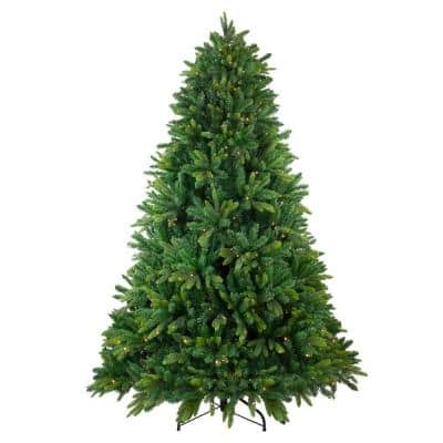6.5 ft. Pre-Lit Gunnison Pine Artificial Christmas Tree with Warm White LED Lights