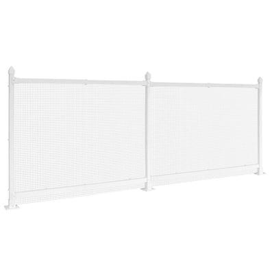 3 ft. x 24 ft. White Plastic Wire Mesh Fence Panel/Enclosure Kit Soft Surface