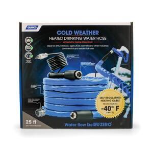 Heated Drinking Water Hose, -40F/C - 5/8'' ID x 25' L