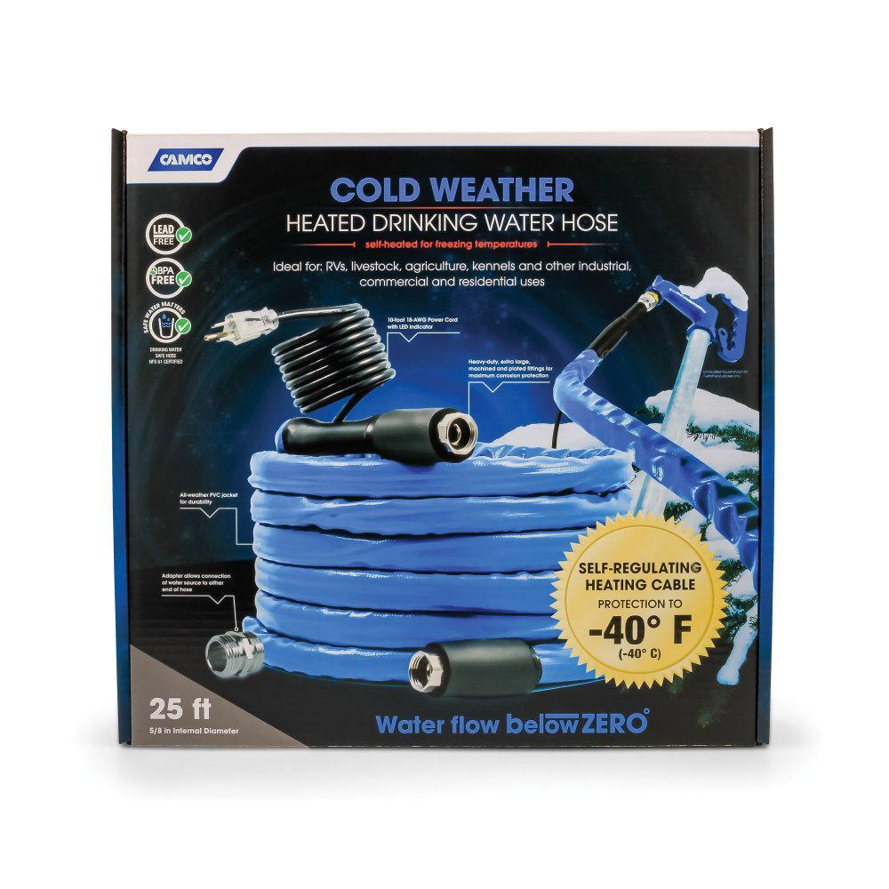 """Heated Drinking Water Hose, -40F/C - 5/8"""" ID x 25' L"""