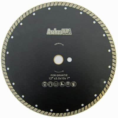 12 in. Wide Turbo Diamond Blade for Stone and Masonry Cutting