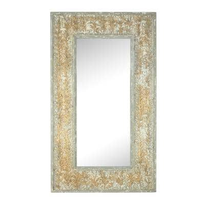 Large Rectangle Gold Classic Mirror (56.5 in. H x 33 in. W)