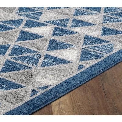 Marisol Blue Geometric 2' x 3' Scatter Area Rug