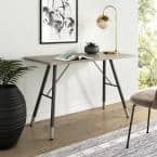 Andi Oak Wood Top with Black Metal A-Frame Small Computer Study Table Home Office Desk