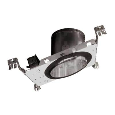 6 in. Recessed IC Rated Airtight Sloped Housing for New Construction Applications with Sloped Ceilings