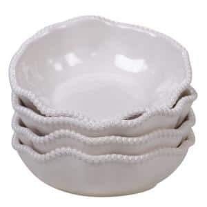 Perlette Cream 4-Piece Multi-Colored 7.5 in. x 2 in. All Purpose Bowl Set