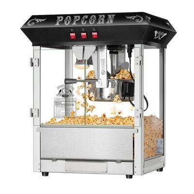 Hot and Fresh 8 oz. Black Countertop Popcorn Machine