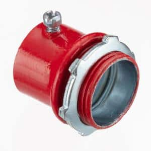1/2 in. Color Coded Red EMT Connectors (50-Pack)