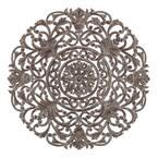 Frasso 35.5 in. x 35.5 in. Grey Medallion Wooden Wall Art/Sculptures