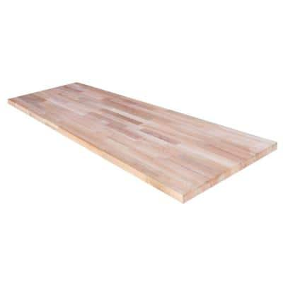 Beech 5 ft. L x 30 in. D x 1.5 in. T Butcher Block Countertop in Solid Wood with Clear UV