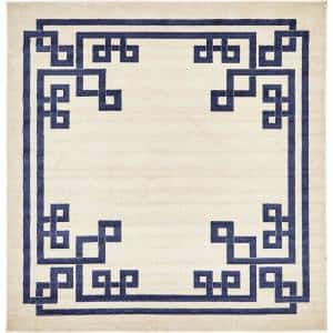 Athens Geometric Beige 8' 0 x 8' 0 Square Rug