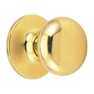 Cambridge Polished Brass Dummy Door Knob