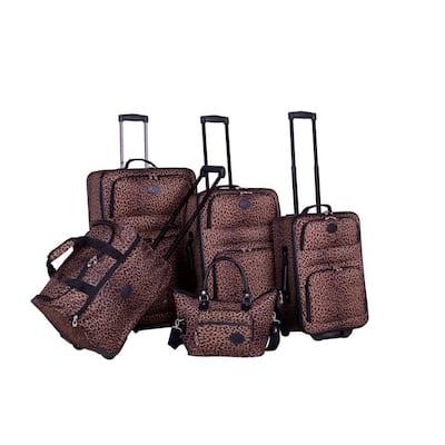 American Flyer AnimalPrint 5-Piece Spinner Luggage Set