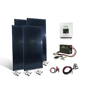800-Watt Crystalline Off Grid 12-Volt High Performance Complete Solar Panel Kit