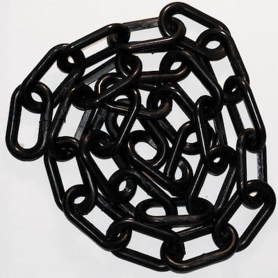 2 in. x 50 ft. Black Plastic Chain