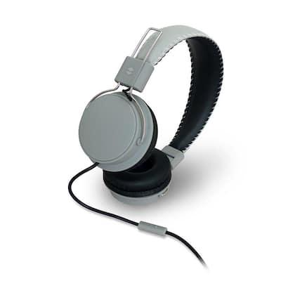 Earfoam Layers High Performance Headphones with Mic in Gray