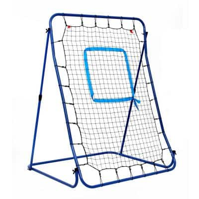 Carom Baseball Pitching Rebound Net All Weather System with Adjustable Steel Frame and Storage Bag