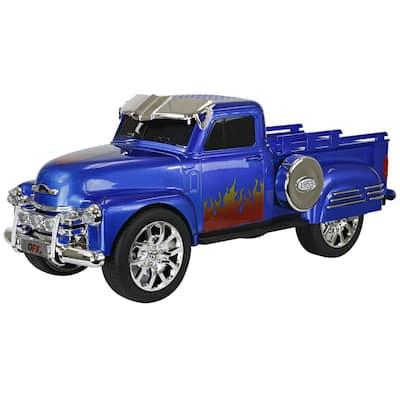 Retro Chevy Truck Portable Bluetooth Speaker (Blue)
