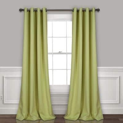 Sage Grommet Blackout Curtain - 52 in. W x 84 in. L  (Set of 2)