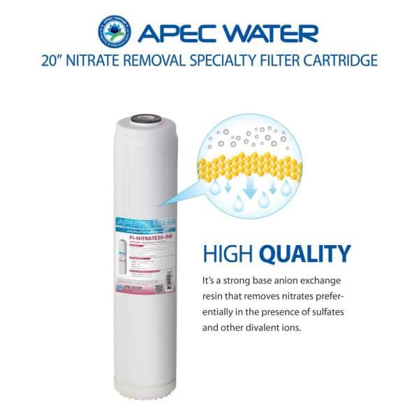 Apec Water Systems 20 In Big Blue Specialty Nitrate Reduction Replacement Water Filter Cartridge Fi Nitrate20 Bb The Home Depot