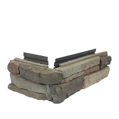 Easy Stack 5 in. x 12 in. To 19 in. Clover Dale No Mortar Concrete Ledge Stone Corner 1.6 lin. ft. per box