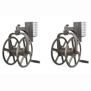 Single Arm Navigator Rotating Hose Reel and Storage Bin (2-Pack)