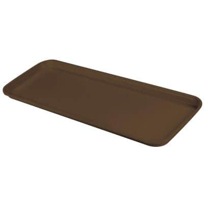 Glasteel 8.75 in. x 1.12 x 25.5 in. Chocolate Fiberglass Solid Display/Bakery Tray (12-Pack)