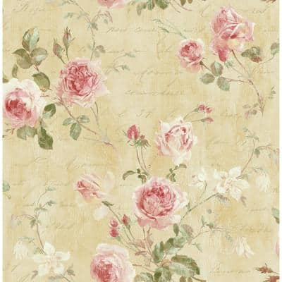 Charleston Floral Paper Strippable Roll (Covers 56 sq. ft.)