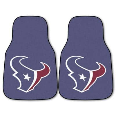 Houston Texans 18 in. x 27 in. 2-Piece Carpeted Car Mat Set